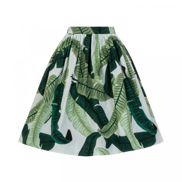 Swing Skirt, JASMINE Banana Leaf