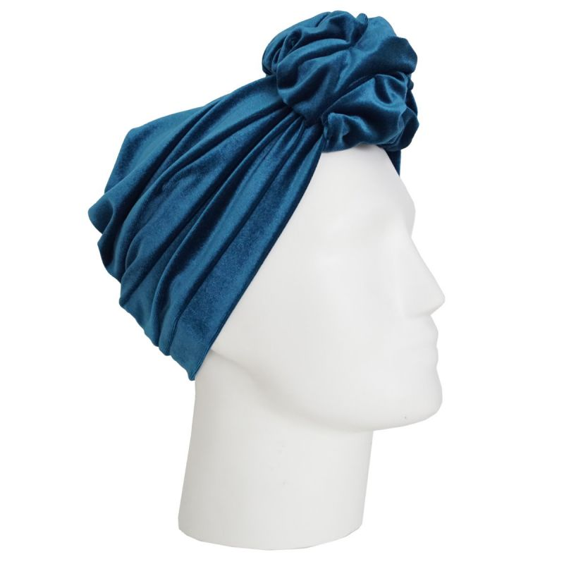RUBYLEA Turbaani, JOAN Turquoise Velvet