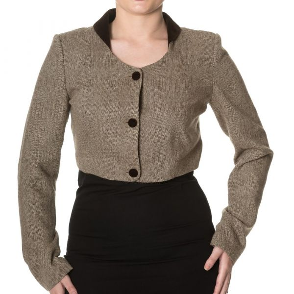 Jacket, LADY LUCK Brown