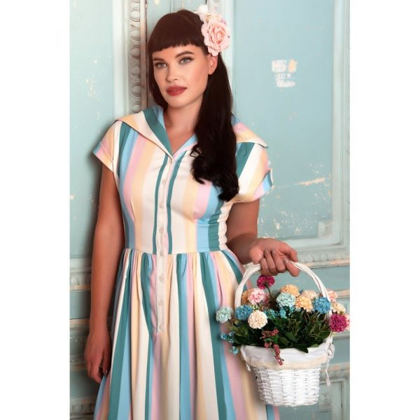 Swing Dress, JUDY Teacup Stripe