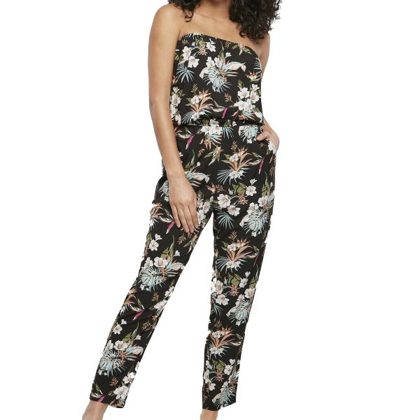 Jumpsuit, RESORT Black Tropical Long