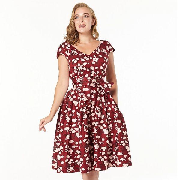 Dress, KAV Burgundy (3201)