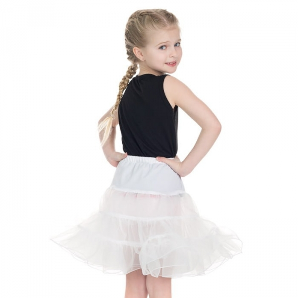 Kids Petticoat, White