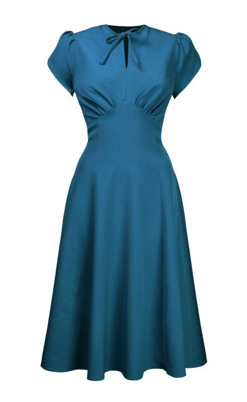 Dress, PRETTY RETRO Pretty Starlet Teal