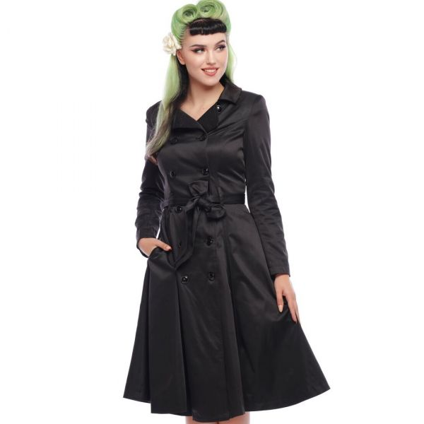 Trench, KORRINA SWING Black