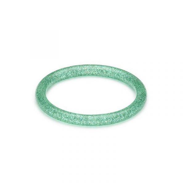 Rannerengas, SPLENDETTE Pale Green Glitter Narrow