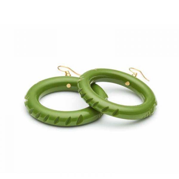 Korvikset, SPLENDETTE Leaf Green Hoop