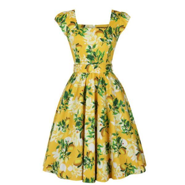 Swing Dress, LADY V Yellow Lemon