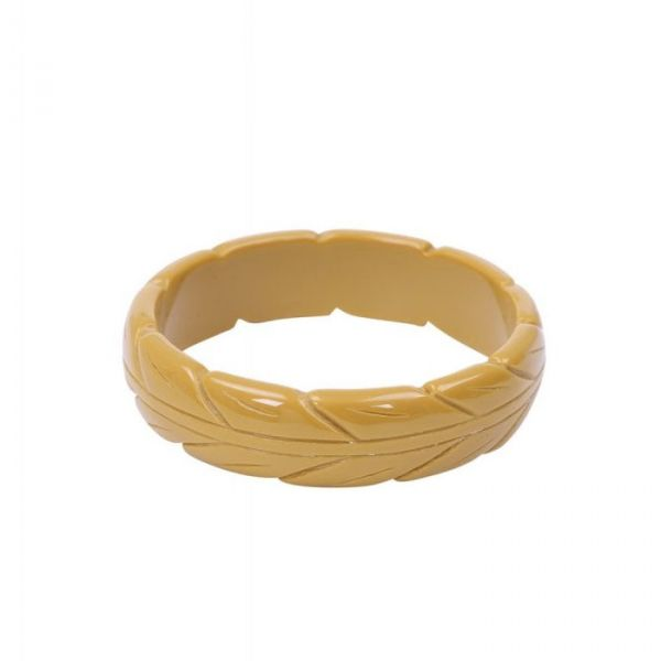 Bracelet, LENA Carved Mustard