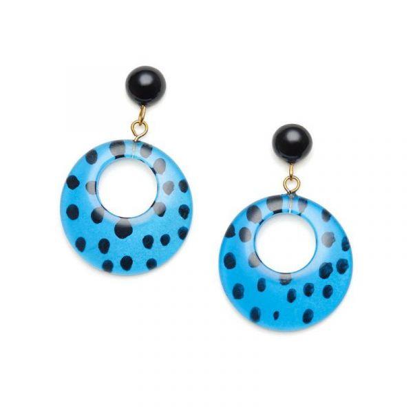 Earrings, SPLENDETTE Leopard Blue