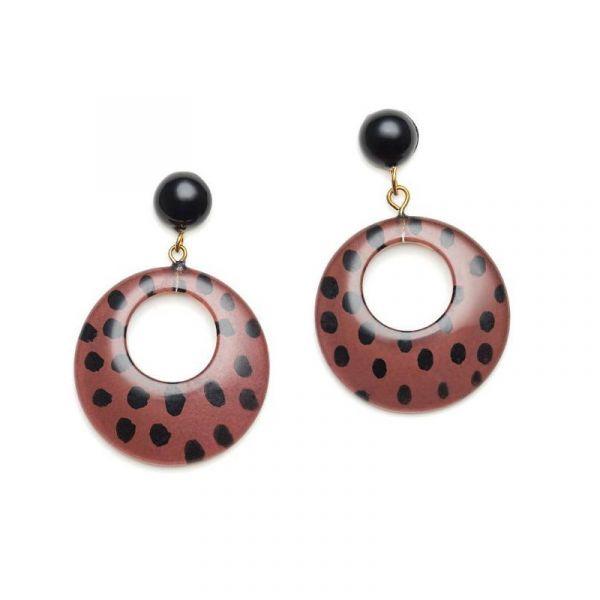 Earrings, SPLENDETTE Leopard Brown