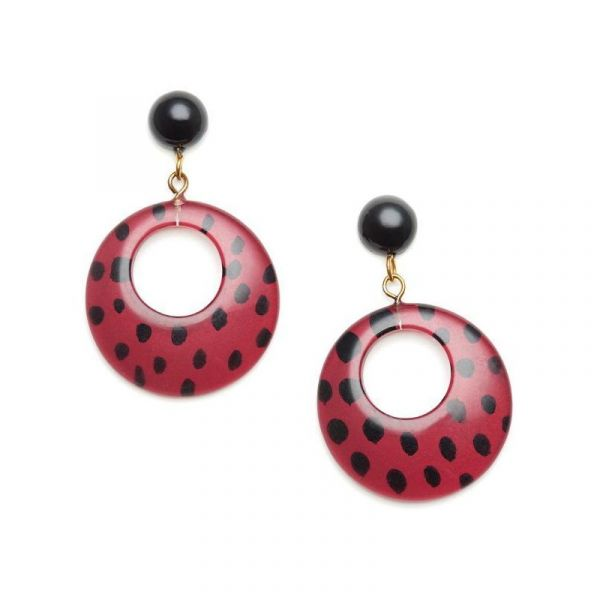 Earrings, SPLENDETTE Leopard Mulberry