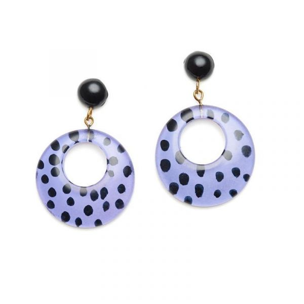 Earrings, SPLENDETTE Leopard Grape