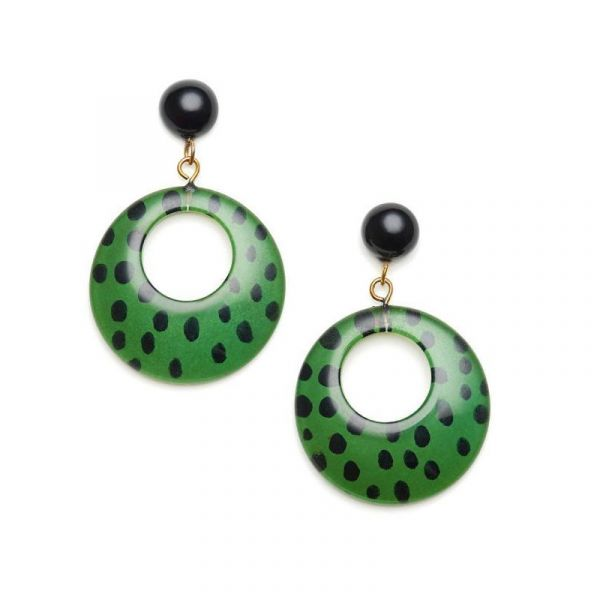 Earrings, SPLENDETTE Leopard Green