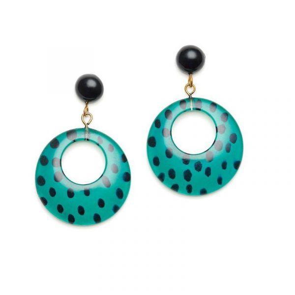 Earrings, SPLENDETTE Leopard Jade