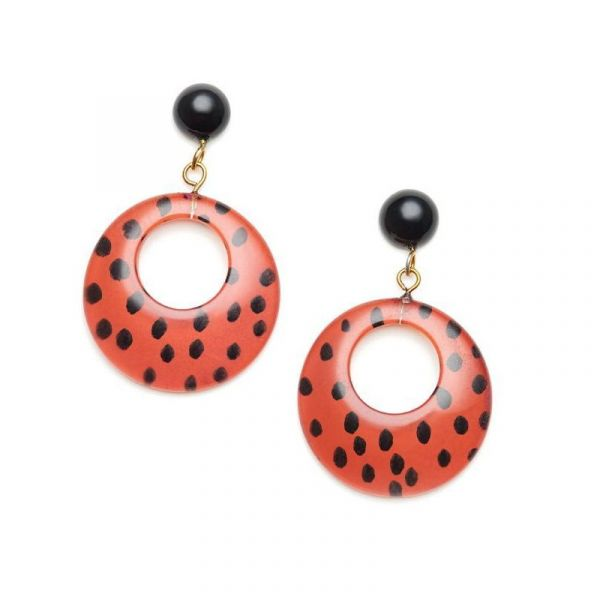 Earrings, SPLENDETTE Leopard Orange