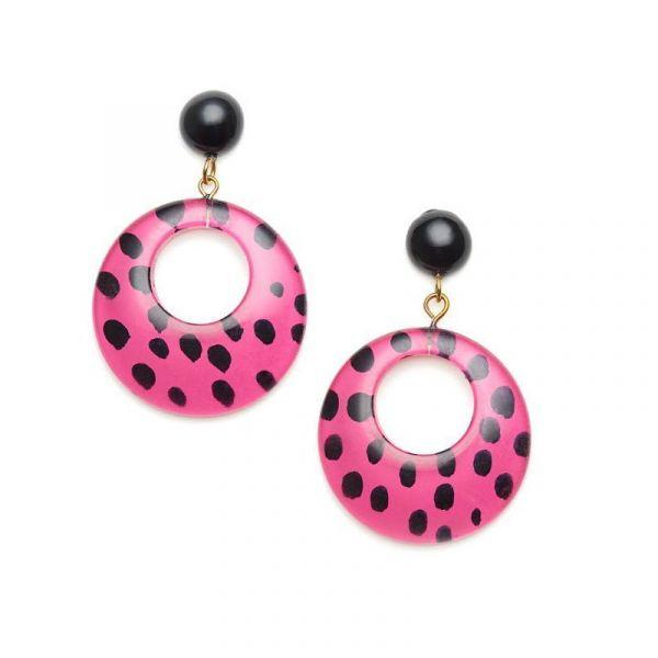 Earrings, SPLENDETTE Leopard Pink