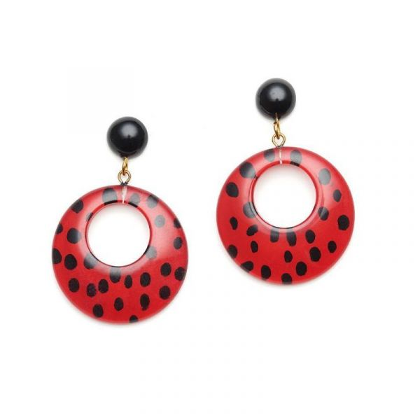 Earrings, SPLENDETTE Leopard Red
