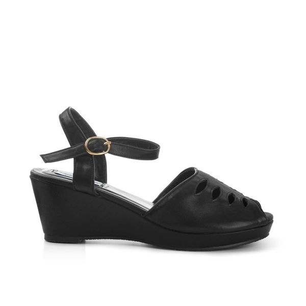 Kengät, LILY WEDGE Black