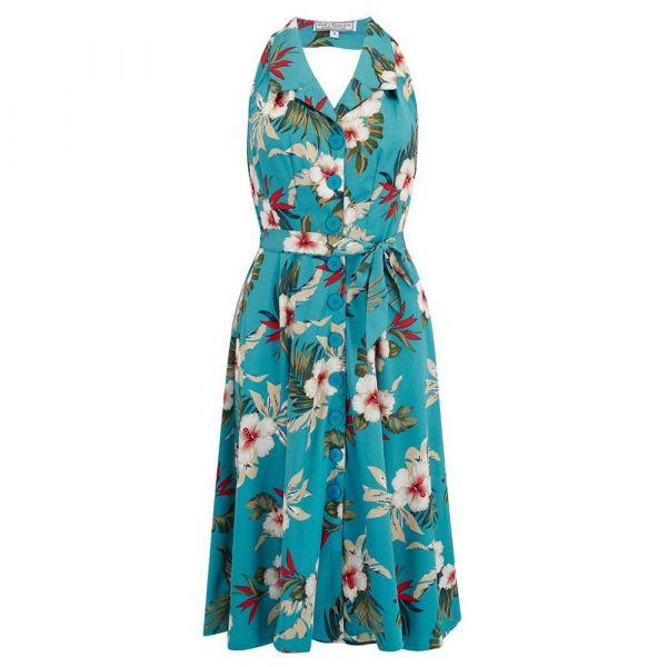 Swing Dress, ROCK'N Lindy Teal Hawaiian