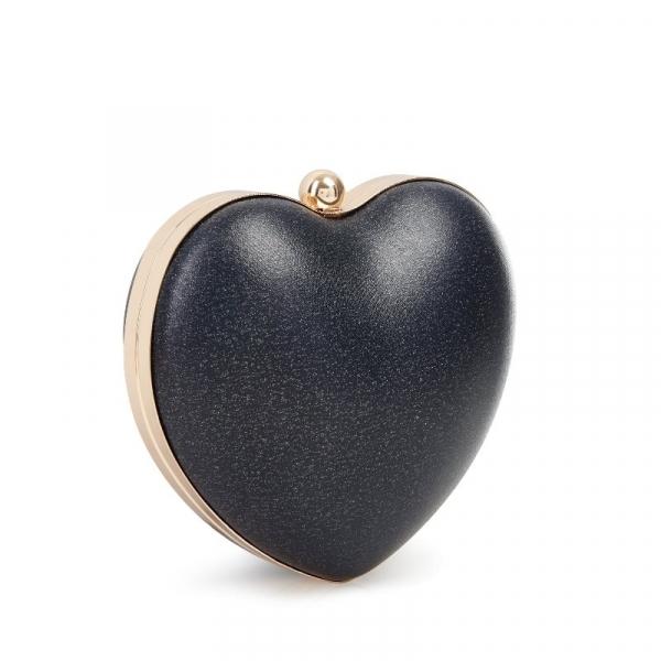 Laukku, LOU HEART Sparkle Black