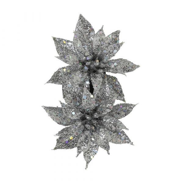 Hair flower, LOUISE Silver