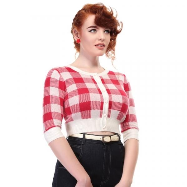 Neuletakki, LUCY Gingham Red