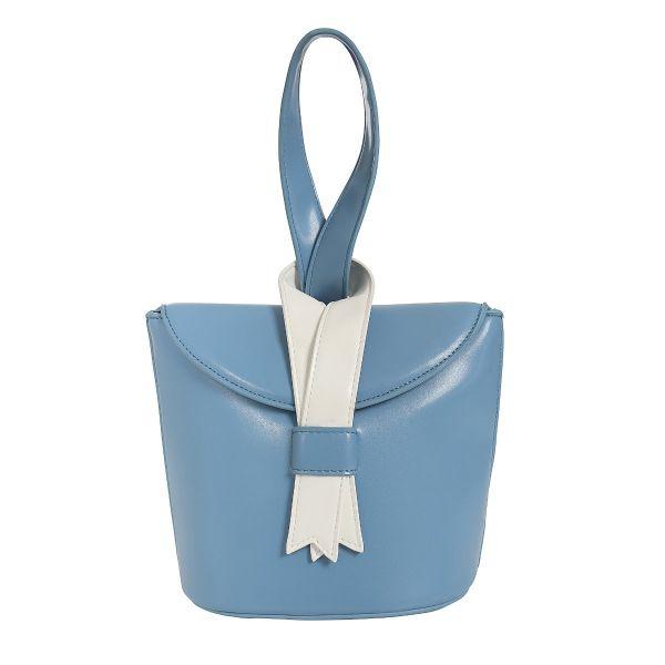 Bag, LUIZA Ribbon Lightblue