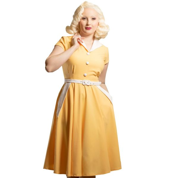 Swing Dress, DAISY DAPPER Magda Yellow (176)