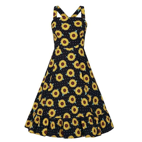 Swing Dress,MAGGIE Sunflower
