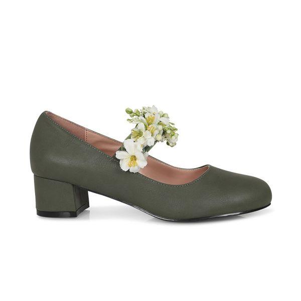 Block Heel, MALIA Green