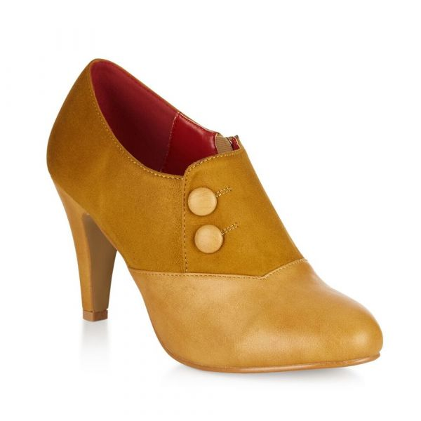 Heels, MARIA Mustard