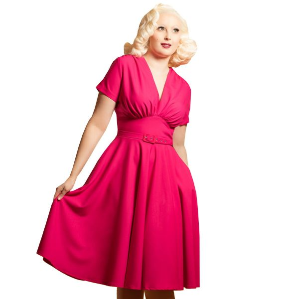 Swing Dress,  DAISY DAPPER Marilyn Cerise (163)