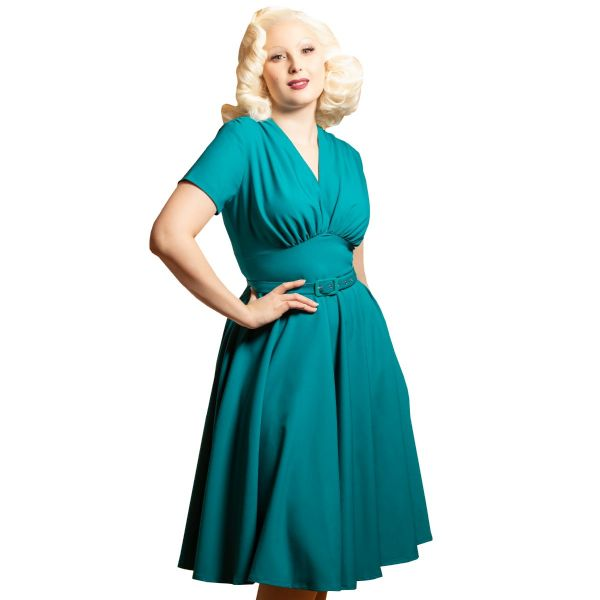 Swing Dress, DAISY DAPPER Marilyn Teal (163)