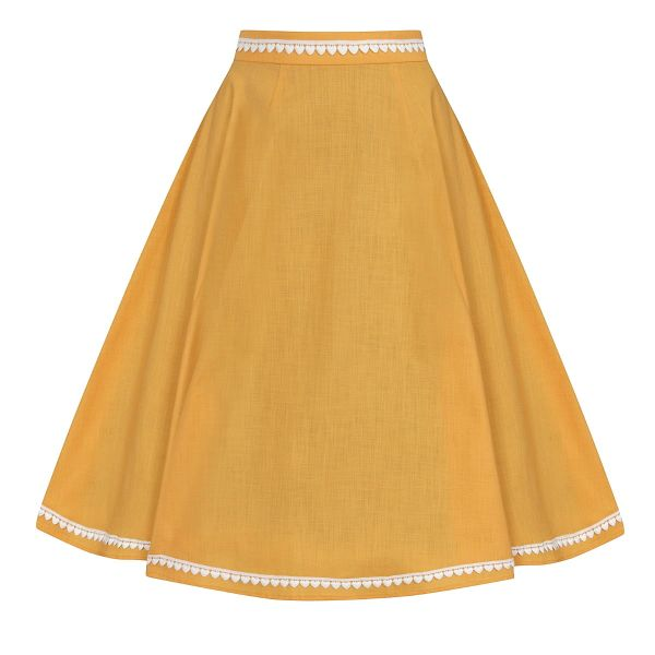 Swing Skirt, MATILDE Heart Trim