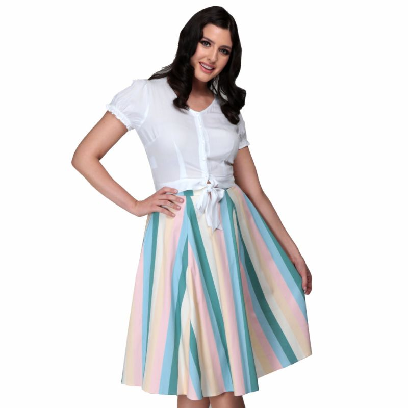 Swing Skirt, MATILDE Teacup Stripe