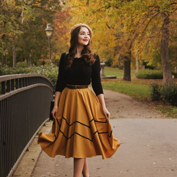 Swing Skirt, MILLA Mustard