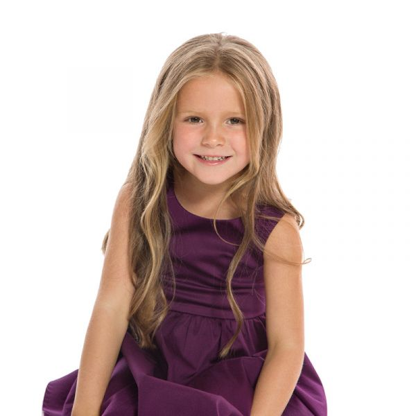 Kids Swing Dress, AUDREY Purple