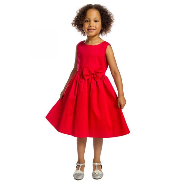 Kids Swing Dress, GRACE Crimson
