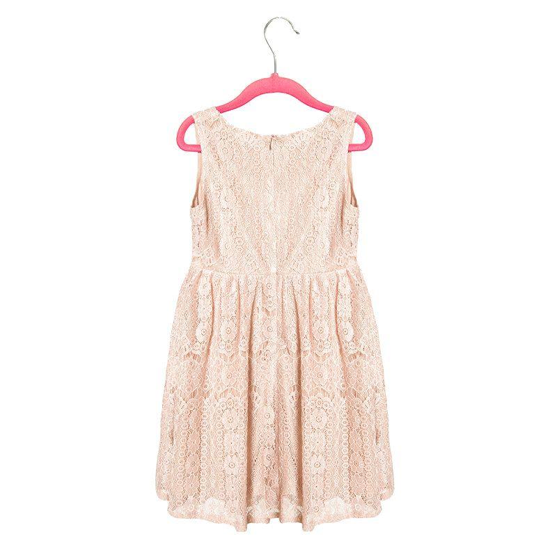 Lasten Kellomekko, GRACE Pink Lace