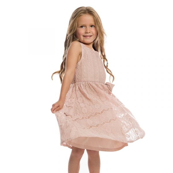 Kids Swing Dress, GRACE Pink Lace
