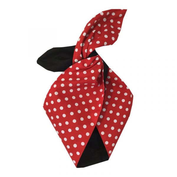 Hiuspanta, BE BOP Minnie Red Polka/Blk