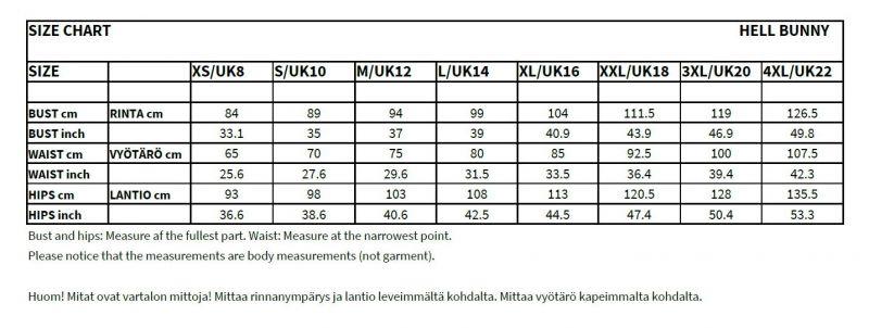 Kellomekko, TAHITI 50s MUSTA (4677)