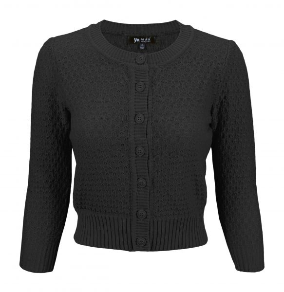 MAK Cardigan, Pat 50s Black PLUS