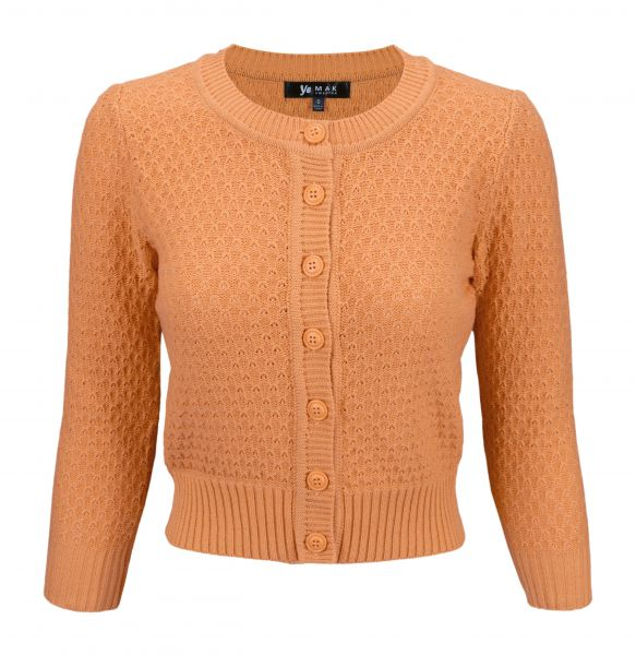 MAK Cardigan, Pat 50s Light Orange