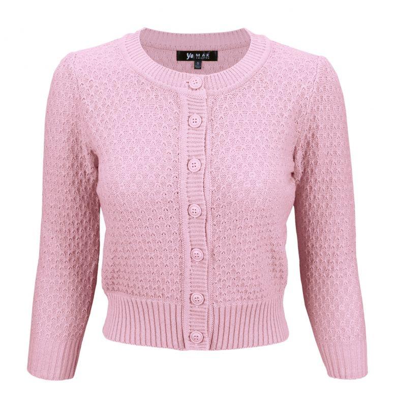 MAK Cardigan, Pat 50s Light Pink