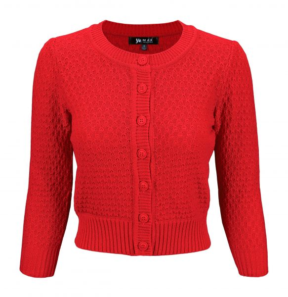 MAK Cardigan, Pat 50s Red PLUS