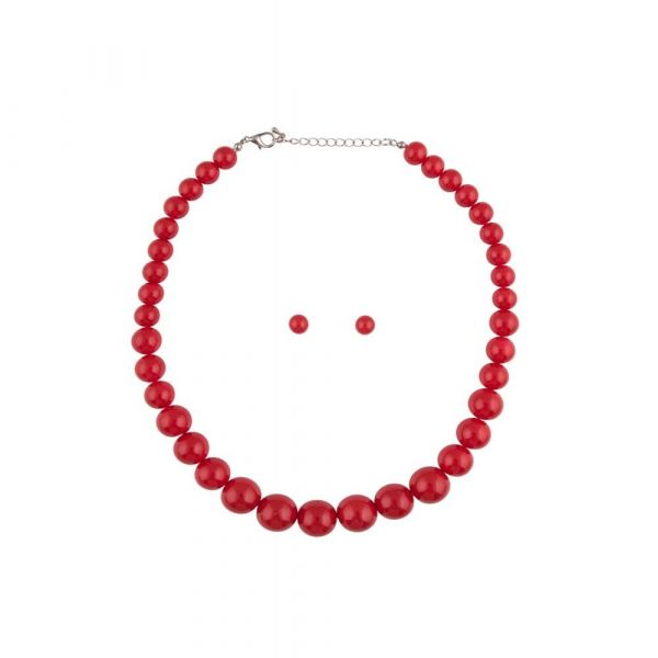 Bead Set, NATALIE Red