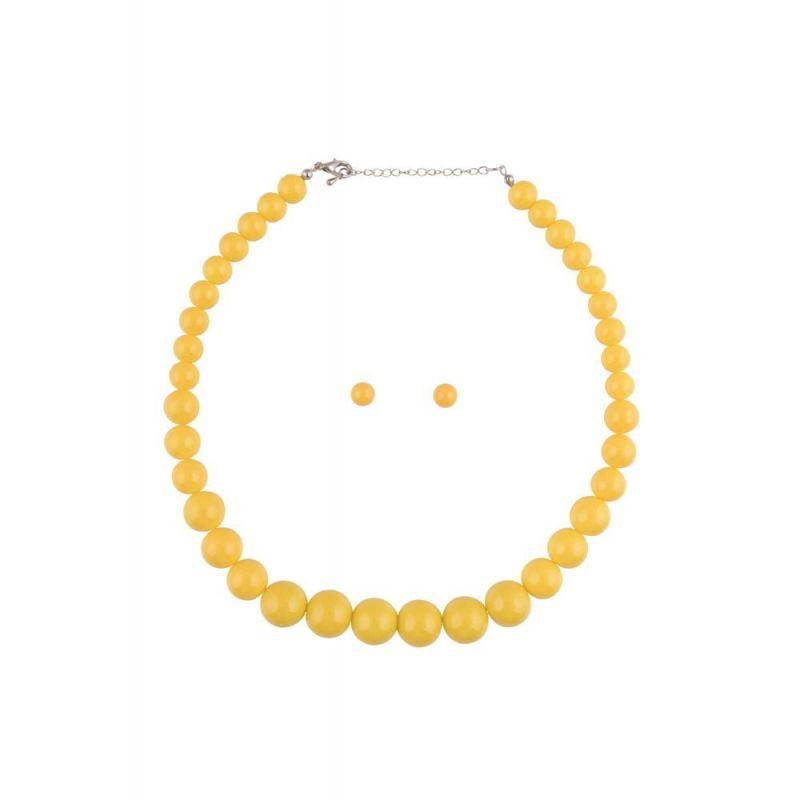 Korusetti, NATALIE Beads Yellow