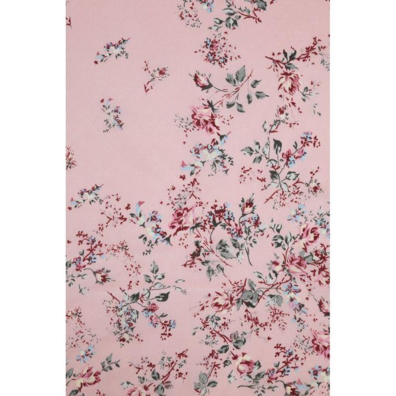 Huivi, Nicole Vintage Flower Pink